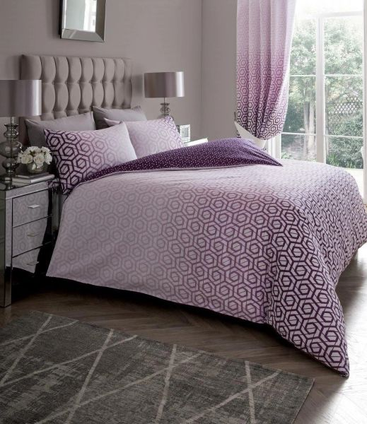 Ohari purple duvet cover
