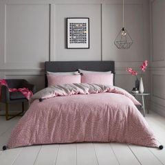 Huxley Pom Pom blush pink cotton blend duvet cover