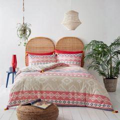 Webber natural tassel cotton blend duvet cover