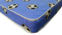 """Blue football 6"""" basic mattress"""