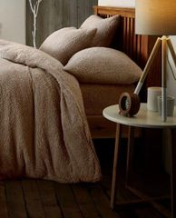 Teddy fleece mink duvet cover