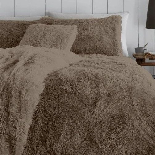Faux fur mink duvet cover