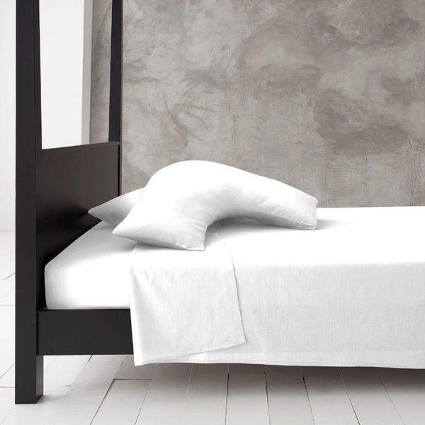 White v shaped pillow case