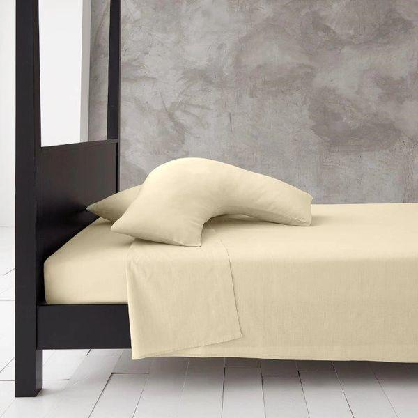 Cream v shaped pillow case