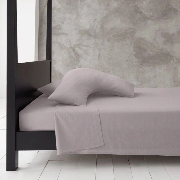 Grey v shaped pillow case