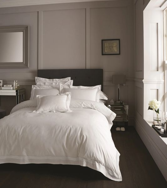 Devore Hotel Collection white duvet cover