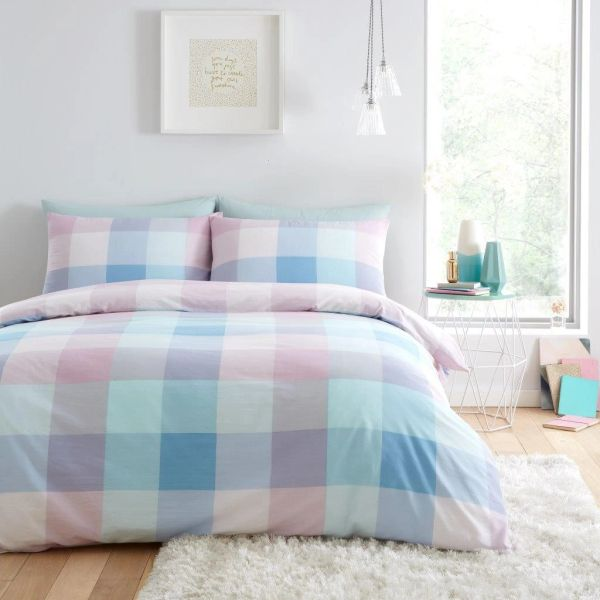 Cosmic Check multi duvet cover