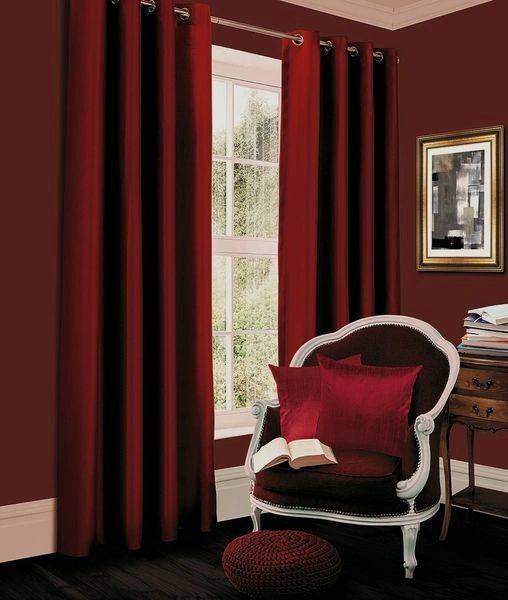 66x90 Thermal blackout red eyelet curtains