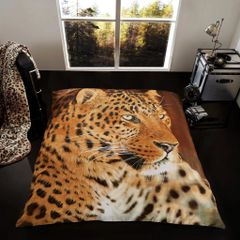 3D print Leopard mink faux fur throw / blanket