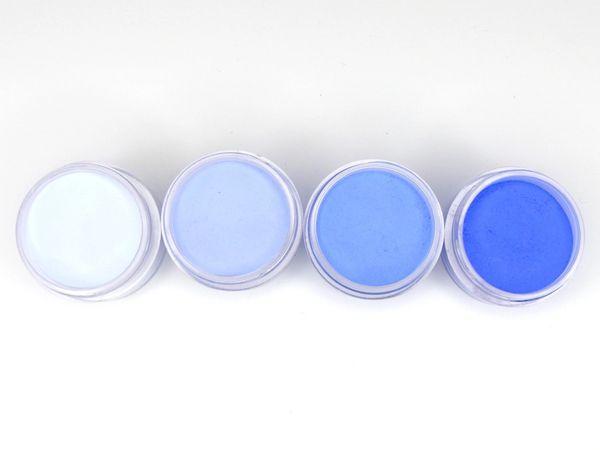 SHADES BY CHARISMA NAIL, 4PK 1/2oz Cobalt Blue SHADES, Hand Blended 3D Color Acrylic Powders