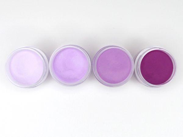 SHADES BY CHARISMA NAIL, 4PK 1/2oz MAGENTA SHADES, Hand Blended 3D Color Acrylic Powders