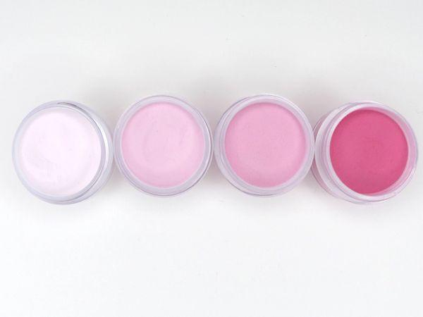 SHADES BY CHARISMA NAIL, 4PK 1/2oz PINK SHADES, Hand Blended 3D Color Acrylic Powders