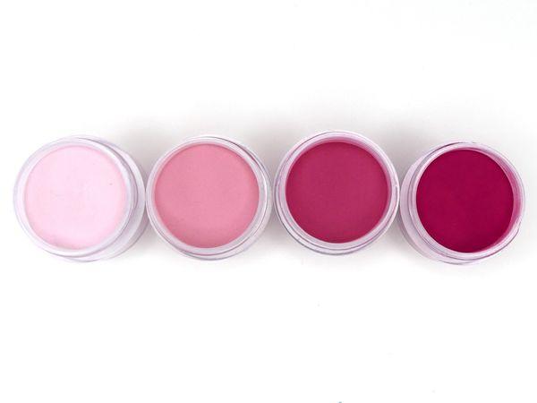 SHADES BY CHARISMA NAIL, 4PK 1/2oz CARMEN RED SHADES, Hand Blended 3D Color Acrylic Powders