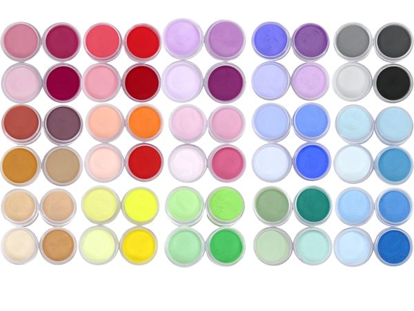 BLACK FRIDAY SALE ITEM, NEW ITEM, SHADES BY CHARISMA, 60pc-1/2oz HAND CRAFTED 3D ACRYLIC COLOR POWDER CREATIONS