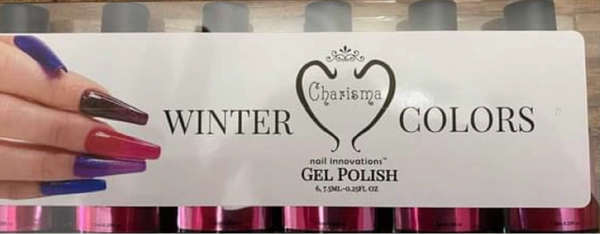 6pc Gel Polish Kit Charisma Nail WINTER COLLECTION Gel Polish