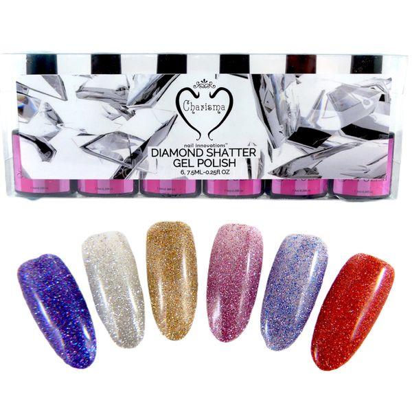 Gel Polish 6PC Kit Diamond Shatter by Charisma Nail