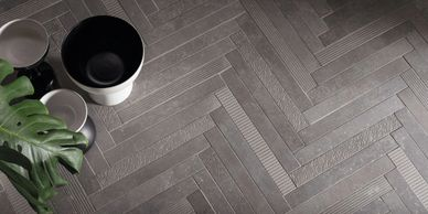 grey porcelain herringbone pattern flooring chevron pattern Italian porcelain tile porcelain slab