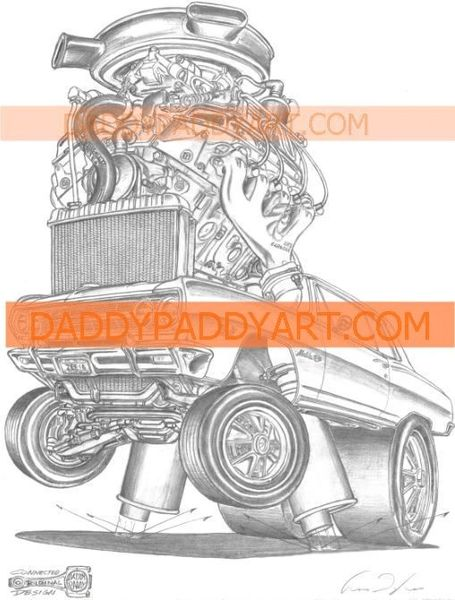 "1965 Chevelle Z16 396 - Remarked Print 17""x 24"""