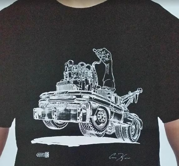 Wrecker T-Shirt with Hand and Shifter 1962 HotRod Wrecker
