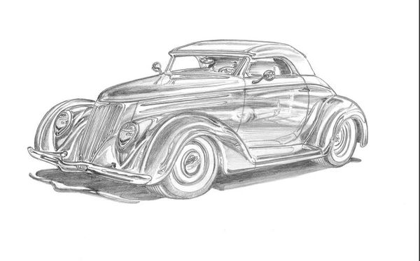 "36 FORD CUSTOM PRINT ON 17"" X 24"" PAPER"