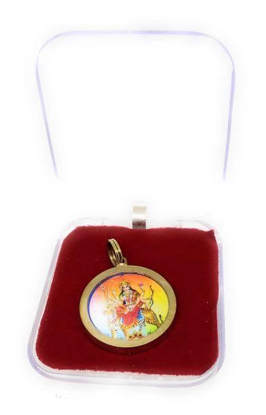 Durga Beesa Gold Plated Yantra Locket