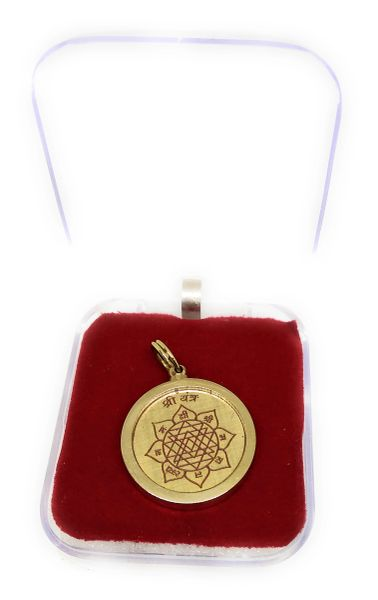 Shree Yantra Gold Plated Locket
