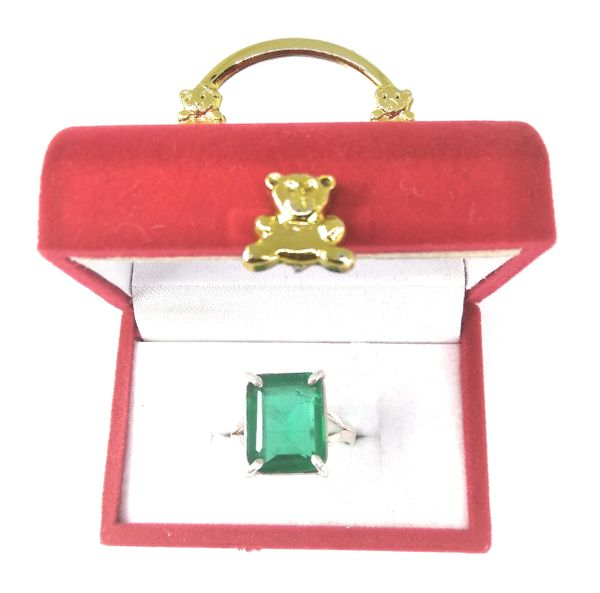 Panna (Emerald) Ring In Pure Silver