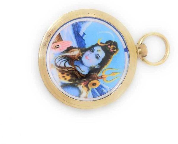 Maha Mrityunjay Yantra Locket Gold-plated Metal Locket