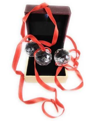 Astrosale Crystal Ball (Medium) Per Piece Crystal Yantra (Pack of 1)
