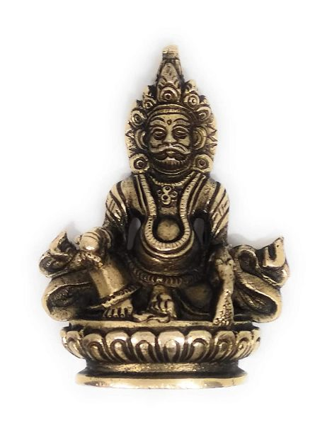 Ashtdhatu Lord Kuber God Idol in Antique Look for Home Temple (Small) (अष्टधातु कुबेर मूर्ति)