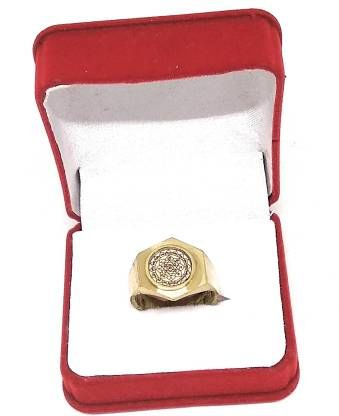 astrosale Astadhatu Gold Plated Shri Yantra Ring with Mantra Brass Yantra (Pack of 1)