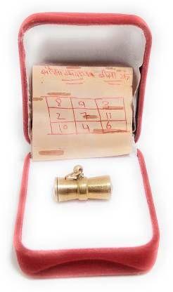 astrosale Sarv Sidhi Sobhagya Dayk Yantra Tabiz in Ashtadhatu Gold Plated 100% Effective Brass Yantra (Pack of 1)