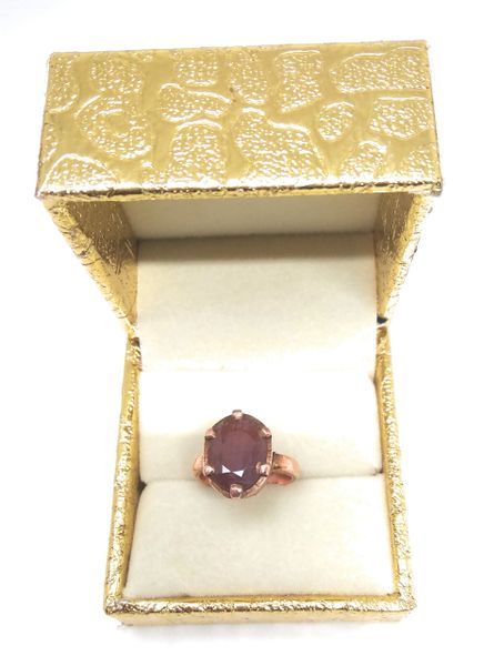 Ruby ( Adjustable) Ring in Copper for Increase Your Status Wealth and Prosperity