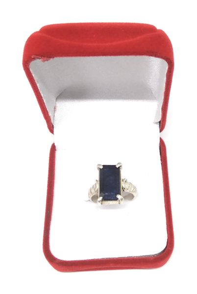 Blue Sapphire ( Adjustable) Ring in Silver for Remove Negative Energy and Increase Your Health Wealth And Prosperity