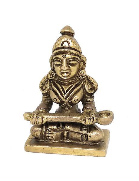Ashtadhatu Annapurana Devi idol For Home Temple incrising wealth and Peace ( 6 x 4 )