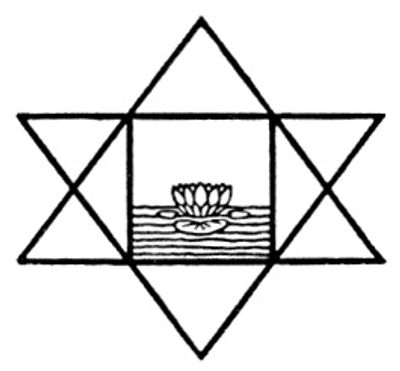 Sri Aurobindo's Symbol (Lotus within Satkona)
