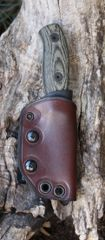 Kydex Knife Sheath with Leather Cover