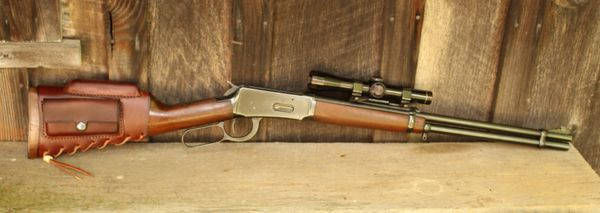 Handmade Leather Rifle Lever Action Cover WRAP for Winchester Ruger Marlin Rossi
