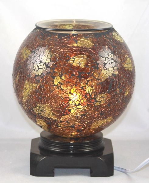 Amber Globe Fragrance Oil Warmer Plus Set of 4 Aroma Oils