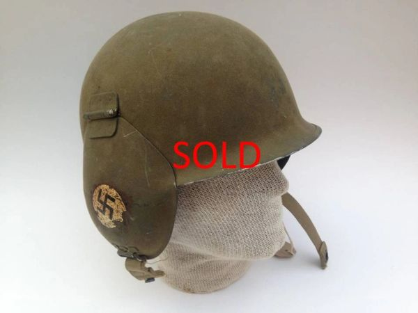 WWII USAAF M3 Flak Helmet - Named with Artwork  8th Air