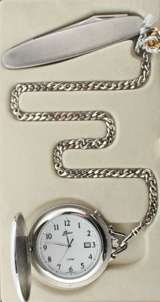 Belair A1615 Silver Tone Pocket Watch