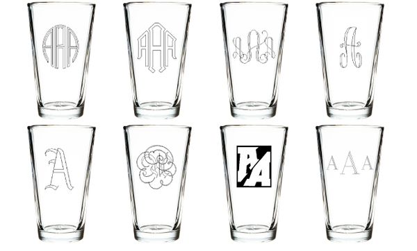 Custom Engraved Beer/Pint Glasses