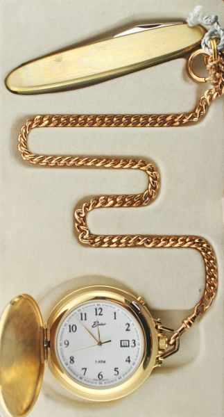 Belair A1615 Gold Tone Pocket Watch