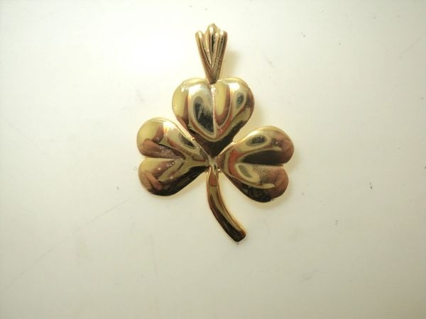 Polished Shamrock Charm (JC-778)