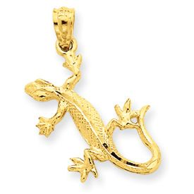 Diamond Cut Lizard Pendant (JC-786)