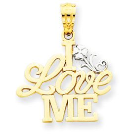 Two Tone I Love Me Pendant (JC-814)