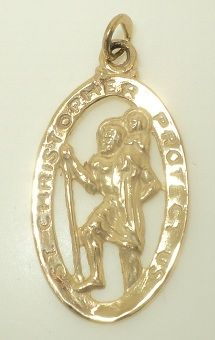 St. Christopher Protect Us Charm (JC-854)