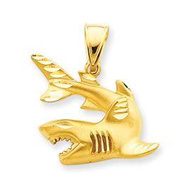 Diamond Cut Large Shark Charm (JC-860)