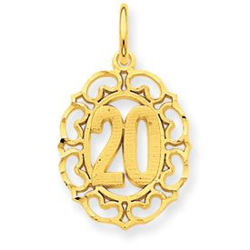 Number 20 in Oval Pendant (JC-869)