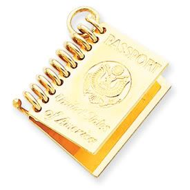 United States Passport Charm with Movable Page (JC-448/JC-449)